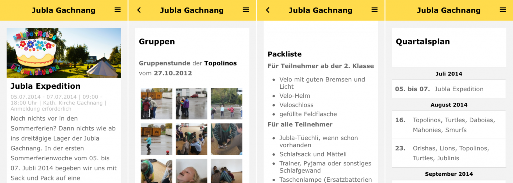 Screenshot Jubla Mobile